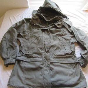 Womens Cabelas Outer Shell Hooded Jacket Size L